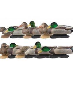 AVERY FLOCKED HEAD Pro-Grade Mallard Harvester 12 Pack